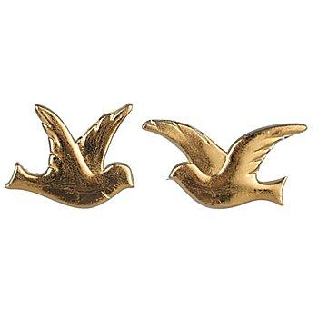 Wachsmotiv 'Taubenpaar' gold