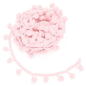 Galon de pompons, rose, 20 mm, 5 m