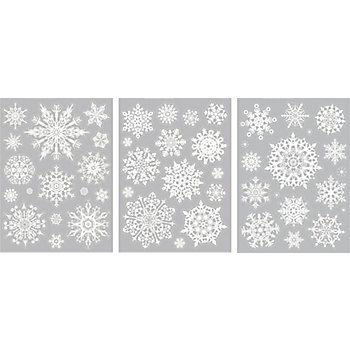 Heyda Fenster-Sticker 'Schneeflocken', A4, 3 Blatt