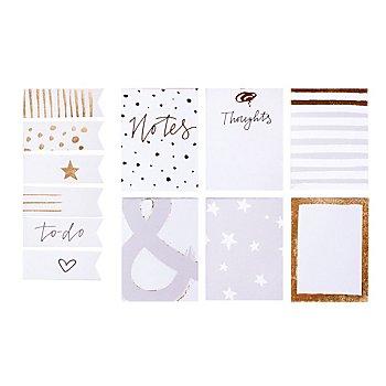 MyPlanner Notizzettel, weiß-grau-gold