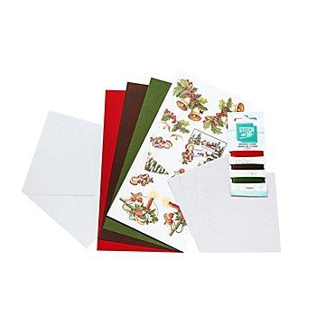 Fadengrafik-Kartenset 'Weihnachten IV'