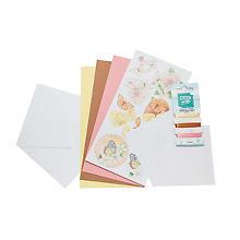 Kit créatif pour cartes à broder 'papillons'