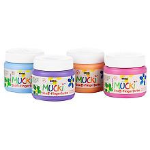 Mucki Stoff-Fingerfarbe, 4x 150 ml