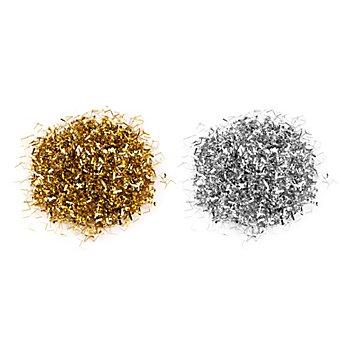 Confettis en film plastique métallisé, argent/or, 30 g
