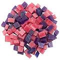 Wachswürfel lila/pink, 200g
