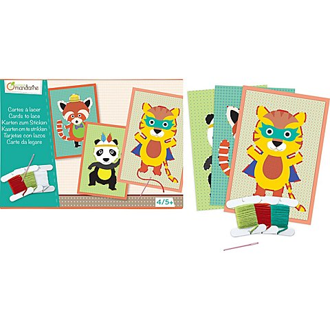 "Image of Kreativ-Set ""Stickkarten"", 4 Motive"