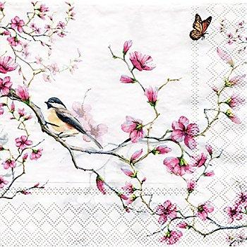 Papierservietten 'Kirschblütenzweig', 33 x 33 cm, 20 Stück