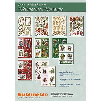 Set de motifs pré-découpés 'nostalgie de Noël', A4, 11 pièces