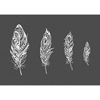 Rayher Siebdruck-Schablone 'Mandala-Federn'