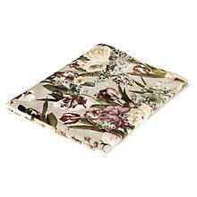 Samt-Coupon 'Blumen', grau-color