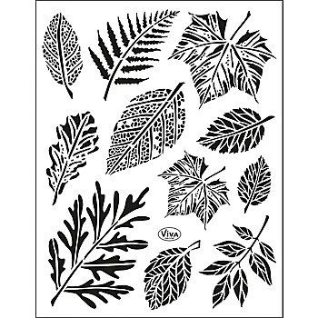 Silikonstempel-Set 'Blätter'