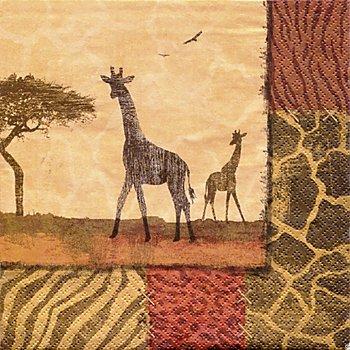 Papierserviette 'Giraffe', 33 x 33 cm, 20 Stück