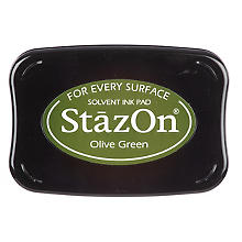 StazOn Tampon encreur, vert olive
