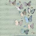 """Serviettes en papier """"papillons avec notes"""", 33 x 33 cm, 20 pièces"""