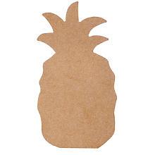 MDF-Ananas, 10,5 x 19,5 cm