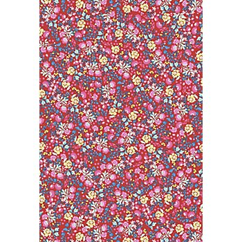 Décopatch-Papier 'Blumen', rot-blau-gelb, 39 x 30 cm, 3 Blatt