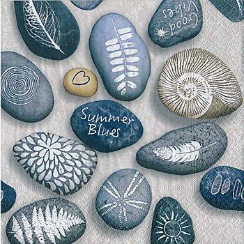 Serviettes en papier 'pierres', 33 x 33 cm, 20 pièces