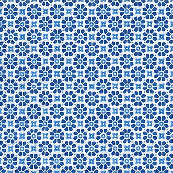 Serviettes en papier 'fleurs bleues', 33 x 33 cm, 20 pièces