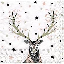 Serviettes en papier 'cerf', 33 x 33 cm, 20 pièces
