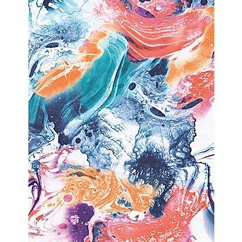 Set de papier Décopatch 'marbré', bleu/orange, 39 x 30 cm, 3 feuilles