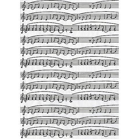 """Image of Décopatch-Papier """"Noten"""", schwarz-weiss, 39 x 30 cm, 3 Blatt"""