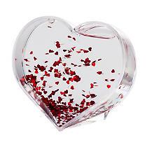 Heyda Boule à neige 'cœur', 9,5 x 9,5 cm