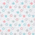 """Serviettes en papier """"étoiles turquoise/rose"""", 33 x 33 cm, 20 pièces"""