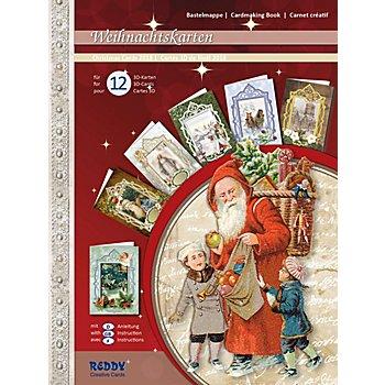 3D-Bastelmappe 'Weihnachtskarten', für 12 Karten