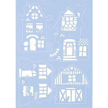 Maskier-Schablone 'Häuser', 21 x 30 cm