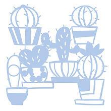 Maskier-Schablone 'Kaktus', 28,5 x 29 cm