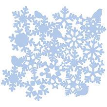 Pochoir 'flocon de neige', 30 x 30 cm