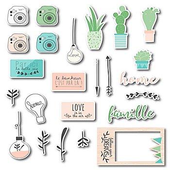Motifs 'jardin miniature', 3,5 - 12 cm, 24 pièces
