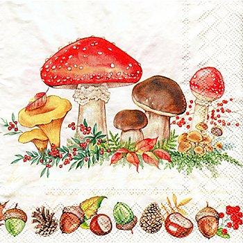 Papierservietten 'Waldboden', 33 x 33 cm, 20 Stück