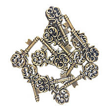 Steampunk Accessoires 'Schlüssel', 15 Stück