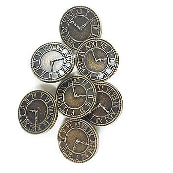 Steampunk Accessoires 'Uhren', 8 Stück