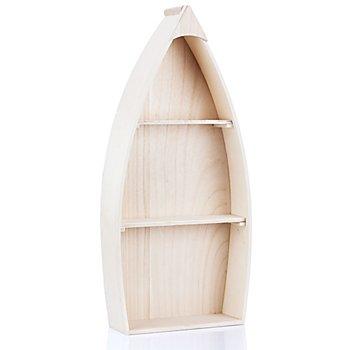 Holz-Regal 'Boot', 30 x 66 x 10 cm