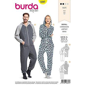 burda Schnitt 6397 'Overall' für Damen und Herren
