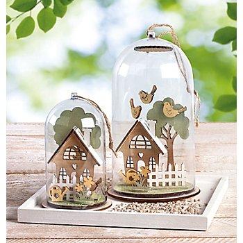 Kit créatif en bois 'maisonnettes de jardin'