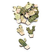 Streuteile 'Kaktus', 4 - 4,5 cm, 18 Stück
