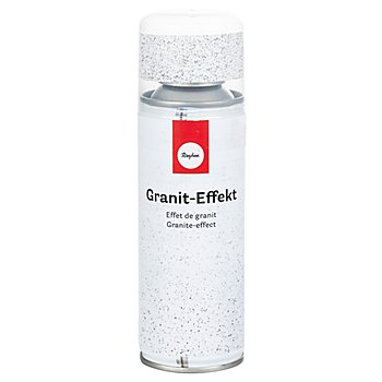 Bombe aérosol 'effet granit', blanc/gris, 200 ml
