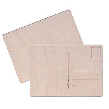 Carte postale en bois, 14,8 x 10,5 cm, 2 pièces