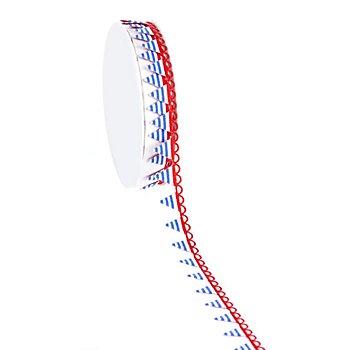 Wimpelborte, rot-weiß-blau, 15 mm, 2,5 m