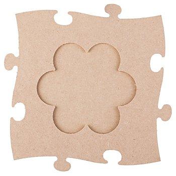 MDF-Puzzle-Bilderrahmen 'Blume', 24 x 24 cm
