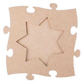 Cadre en MDF 'pièce de puzzle - étoile', 24 x 24 cm