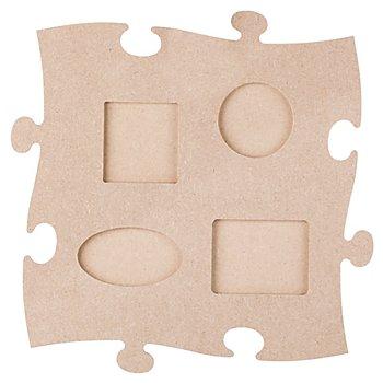 MDF-Puzzle-Bilderrahmen 'Formen', 24 x 24 cm