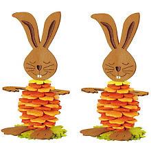 Filz-Osterhasen-Bastelset, gelb-orange-grün, 2 Stück