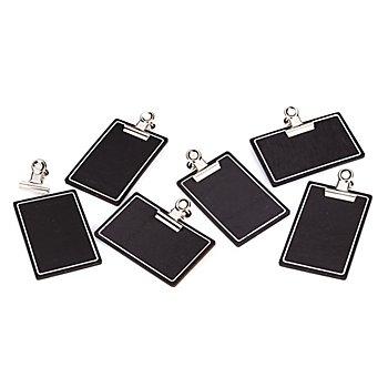 Mini porte-blocs, noir/blanc, 6 pièces