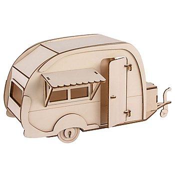 Holzbausatz 3D 'Wohnwagen', 36 x 18 x 15 cm