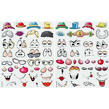 Ostereier-Sticker 'Freche Eier', 70 Stück