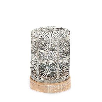 Photophore pour bougie chauffe-plat, gris, 12 cm